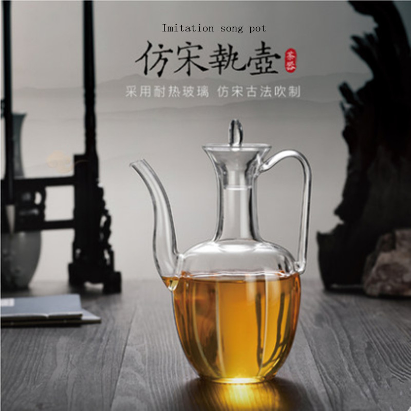 Heat resistant glass hand made imitation of the Song Dynasty pot brewing tea pot Dou tea soup bottle Baiju imperial concubine wi|Teapots| |  - title=