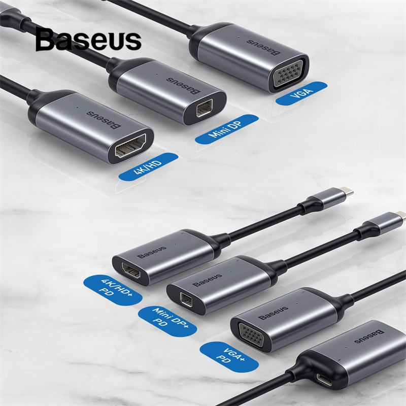 Baseus USB Hub Convetor  USB C HUB HDMI With PD Power Adapter For Macbook Pro Type C USB-C PD Charging Port USB HUB Splitter Hab