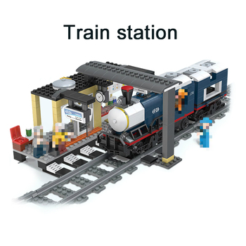 Dworzec kolejowy klocki dla dzieci klocki kompatybilne wszystkie marki marka tor kolejowy