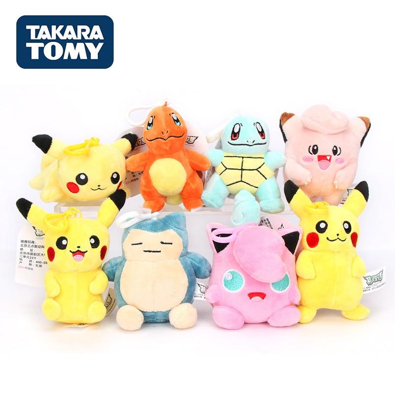 takara-tomy-font-b-pokemon-b-font-genuine-pikachu-plush-dolls-pendant-charmander-jigglypuff-bulbasaur-animal-doll-toys-for-kids