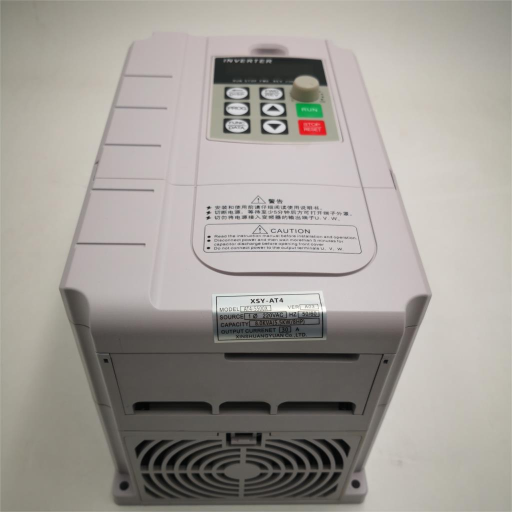 CoolClassic VFD Inverter 5 5KW 220V in and 380V out single phase 220V household electric input