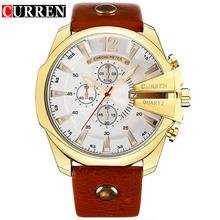Męskie zegarki 2020 CURREN męskie zegarki kwarcowe męskie zegarki Top marka luksusowe Reloj Hombres skórzane zegarki z kalendarzem tanie tanio 23cm Moda casual QUARTZ 3Bar Klamra Ze stopu 12mm Hardlex Kwarcowe Zegarki Na Rękę 54mm 8176-8 26mm ROUND Kompletna kalendarz