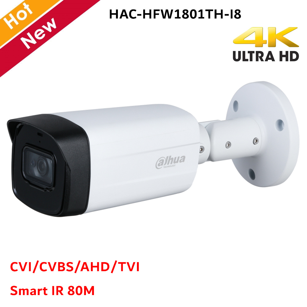 Dahua HDCVI IR Bullet Camera Max. 4K Resolution Smart IR 80m CVI CVBS AHD TVI Switchable Security Camera CCTV Systems