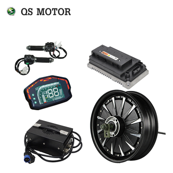 QSMOTOR 3000W 72V 80kph Hub Motor with EM100SP controller and kits for electric scooter