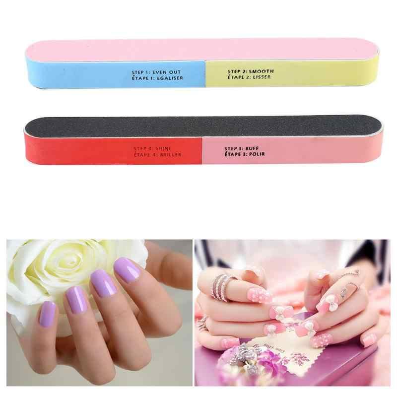 1 Pcs Professionele Nail File Kleurrijke Manicure Poolse Schuren Nail Buffer Blok Praktische Buffing Draagbare Nail Care Tool
