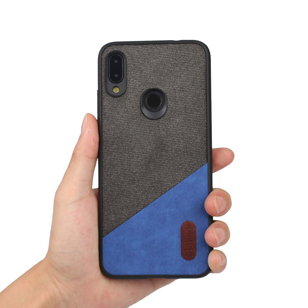 Buy for Xiaomi Redmi Note 7 Pro Case Slim Retro Woven Redmi Note 7 7 Pro Fabric Cloth Anti-scratch Hard Back Cover Shockproof Case for only 3.99 USD