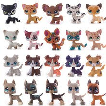 лучшая цена Lps Pet Shop cat Toys Short Hair Cat Collie Dog Lps Collection Action Standing Figure Cosplay Toys Children Best Gift