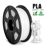 Filamento stampante 3D PLA bianco 1.75MM tolleranza-0.02MM 1kg/2.2lbs materiale PLA per stampante 3D spedizione gratuita ecologico