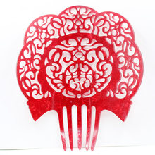 Acetic acid plate wedding hair accessories holiday party lady headdress colorful hair combs