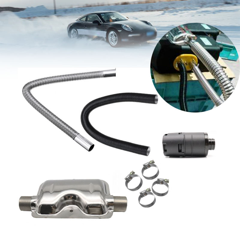Diesel Parking Heater 24mm Exhaust Silencer Muffler + 25mm Air Filter + 2Pipe For Air Diesel Heater For Webasto Eberspache