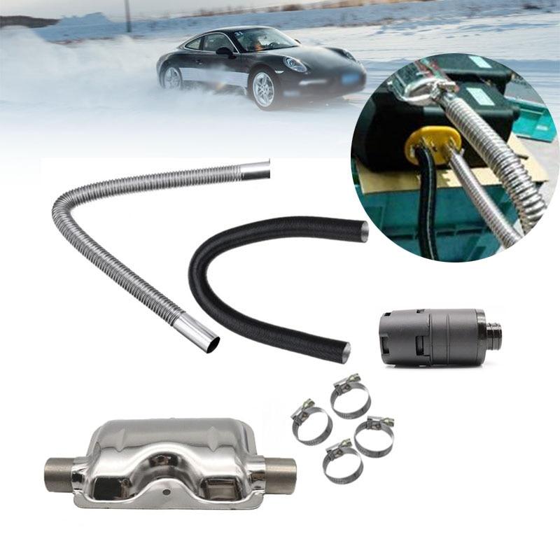 Diesel Parking Heater 24mm Exhaust Silencer Muffler + 25mm Air Filter + 2Pipe For Air Diesel Heater For Webasto Eberspache