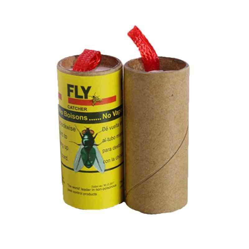 4 rouleaux papier collant mouche éliminer mouches insecte maison jardin colle papier receveur piège mouche Bug moustique tueur piège dispositif