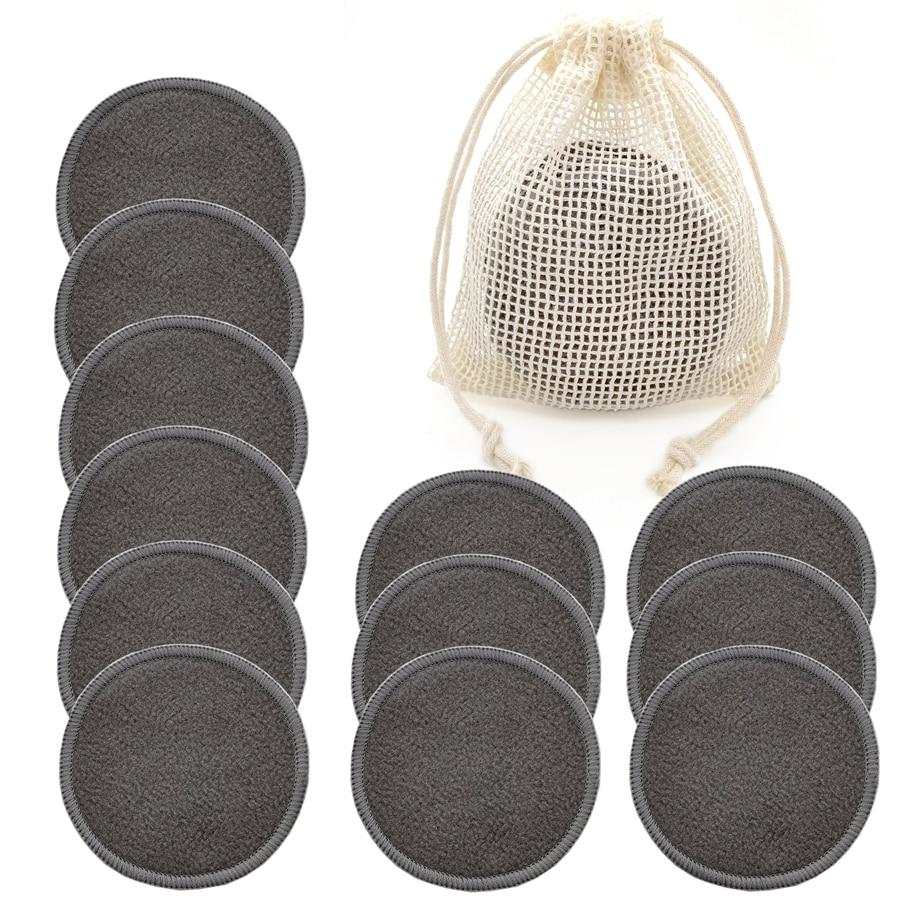 Многоразовый бамбуковый подушечки для снятия макияжа 12 шт./пакет моющиеся патронов для чистки лица и глаз хлопок Make Up для удаления инструме...