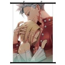Постеры с надписью «Seven Deadly sinds», аниме, японское аниме, нанацу, без тайзай, манга, настенный плакат, Свиток, домашний декор, висячая живопись