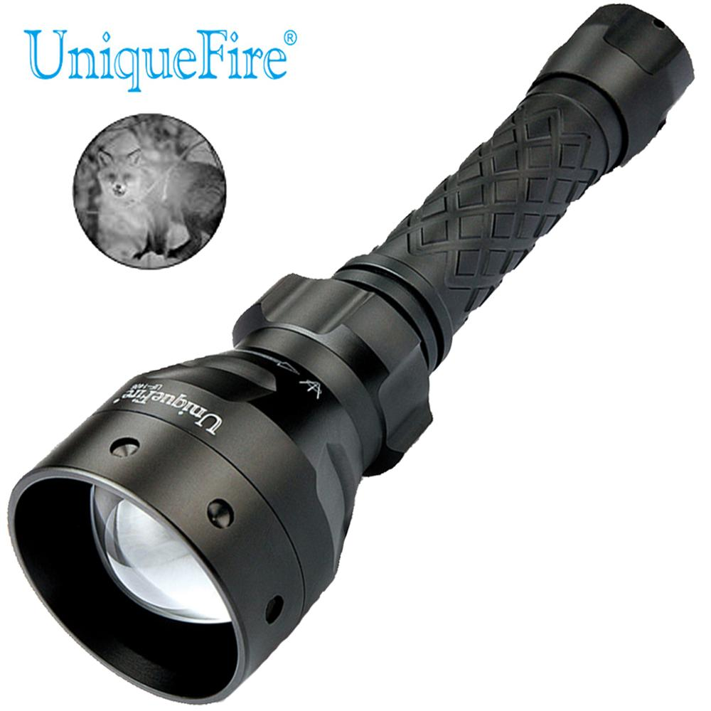 Uniquefire 1405 Verbeterde 850NM Ir Led Jacht Zaklamp Zoomable Torch Infrarood Licht 67 Mm Bolle Lens 3 Modus Voor Night jacht
