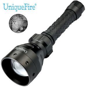 Uniquefire 1405 atualizado 850nm ir led caça lanterna zoomable tocha luz infravermelha 67mm lente convexa 3 modo para a caça noturna|led lamp e27 5w|led w|led ceiling grid lighting -