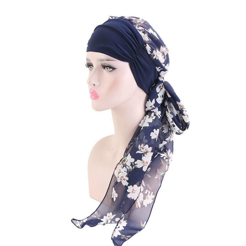 2019 Cancer Hats Boho Pre-Tied Bandana Hair accessories for Women Women Chemo   Headwear   Turbans Long Hair Head Scarf Head wraps