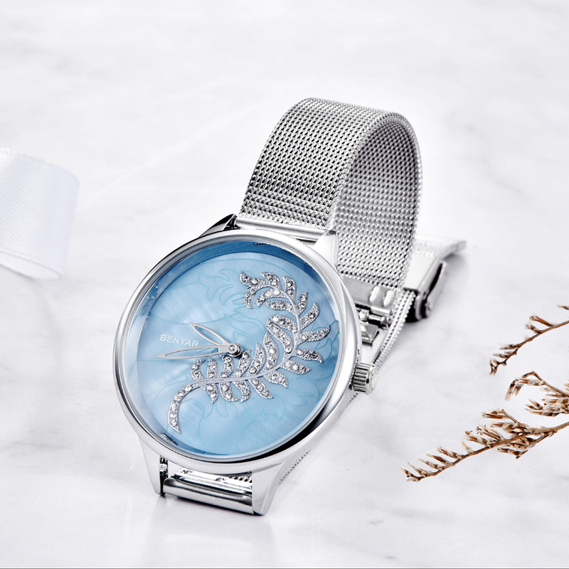BENYAR Women Watches Top Brand Luxury Quartz Fashion Gold Watch Women Ladies Watches Hand Clock Relojes Mujer 2019 Marca Famosa in Women 39 s Watches from Watches