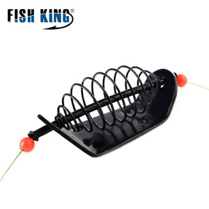 FISH KING, 1 шт., 20 г-100 г, длина 39 см, три Крючки рыболовные, клетка для приманки, свинцовое грузило, вертлюг с линейными крючками для кормушки для карпа
