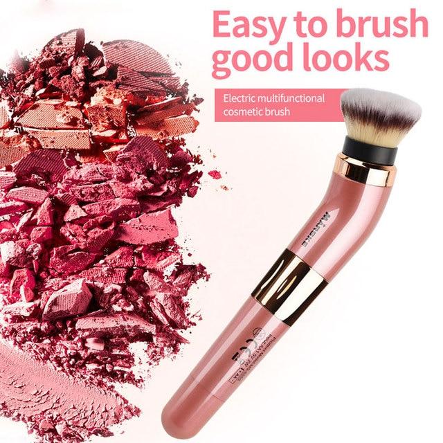 Practical Electric Puff Pore Cleaner Blush Powder Vibrating Makeup Brush Beauty Makeup Tool 6