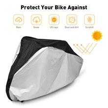4 boyutu bisiklet kapak bisiklet yağmur kar sıcak kapak toz güneş koruyucu motosiklet çantası su geçirmez UV koruma bisiklet kapağı
