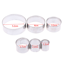 3/5/6pcs Stainless Steel Round Polymer Clay Cutter Molds Pottery Ceramic Cutting Mould Diy Tools