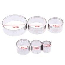 3/5/6 sztuk ze stali nierdzewnej okrągły glina polimerowa Cutter formy ceramiki ceramiczne formy do cięcia narzędzia Diy