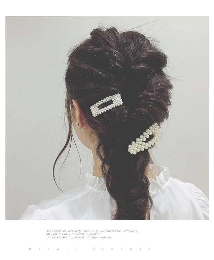 ファッション女性女の子エレガントな真珠ヘアクリップ幾何帽子髪飾りヘアピンバレッタヘッドバンドヘアアクセサリー