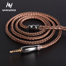 Yinyoo 16 Core High Purity Copper Earphone HiFi Cable 2.5/3.5/4.4MM With MMCX/2PIN/QDC TFZ FOR KZ CCA TRN BLON BL 03