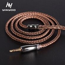 Yinyoo 16 çekirdekli yüksek saflıkta bakır kulaklık HiFi kablosu 2.5/3.5/4.4MM ile MMCX/2PIN/QDC TFZ KZ CCA TRN BLON BL 03