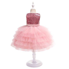 Girl Sequin Layered Tulle Princess Dress