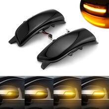 2x דינמי הפעל אות אור LED צד כנף אחורית מראה חיווי רציפה נצנץ עבור וולוו S60 אני C30 S80 השני v70 השני S40 השני