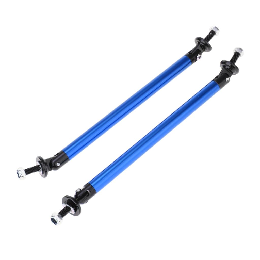 2 Pcs Adjustable Front Bumper Lip Splitter Strut Tie Bar Support Rod For Car Truck RV Camper Etc 150mm/200mm