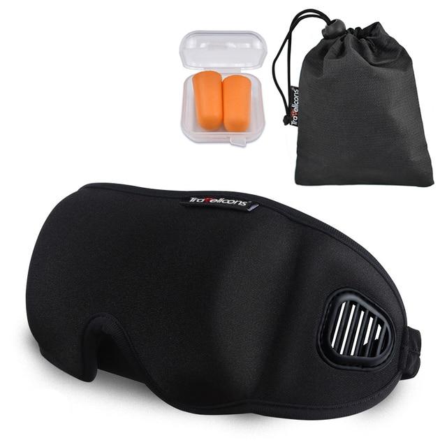 High-Grade Fabric EyeShade Portable Sleeping Eye Mask Eyepatch Padded Shade Cover Eye Mask Night Rest Blindfold Sleep Bandage 1