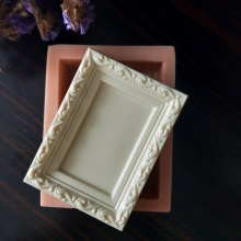 QT0192 PRZY Silicone Mold Picture frame Fondant Mould Frame Soap Molds Clay Resin Gypsum Chocolate Candle Candy