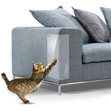 PVC 2PCS Cat Scratch Guard Mat Anti-Scratching Pad Board Protector Sofa Furniture Scratching