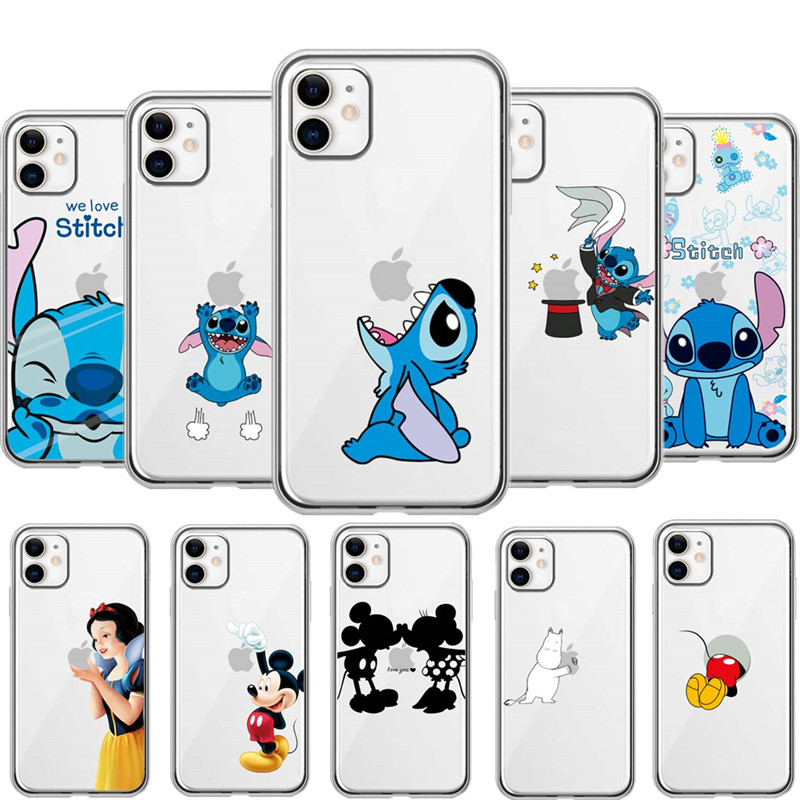 Cartoon Silikon Telefon Fall Für <font><b>iPhone</b></font> 11 Pro Max 7 8 Plus <font><b>XS</b></font> MAX XR Nette Stich <font><b>Cases</b></font> Abdeckung Für <font><b>iPhone</b></font> <font><b>X</b></font> 6 6S Plus 5 SE Coque image