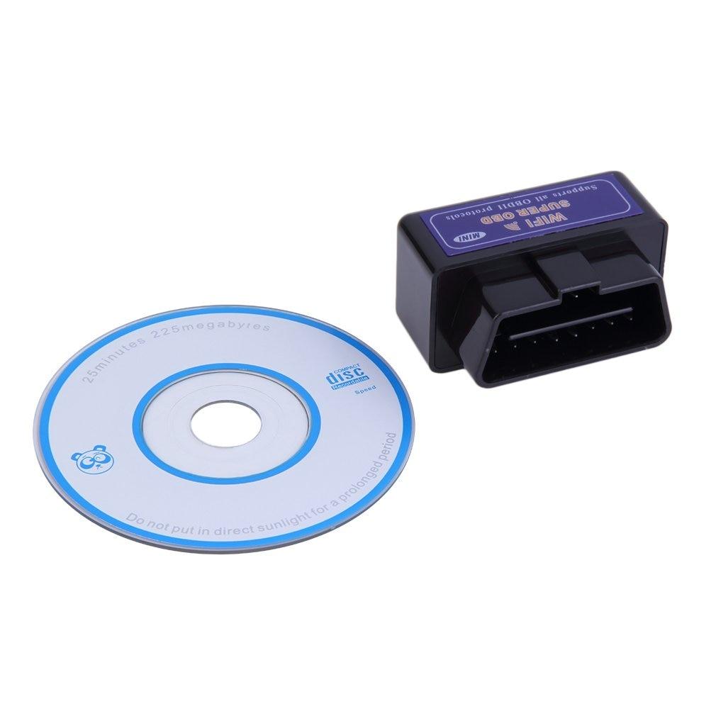 Mini ELM327 WiFi ELM 327 OBDII Car Diagnostic Tool OBD2 Code Reader Scanner For Android ELM WiFi 327 black hot selling