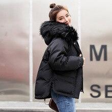 Winter Women parkas 2019 fashion warm coat winter jacket women female furcollar hooded zipper outwear short coats