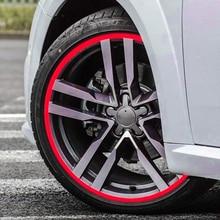 Светоотражающие Обода Колеса полоса лента автомобиля Наклейка для Mercedes W203 BMW E39 E90 F30 F10 Volvo XC60 S40 Audi A4 A6 аксессуары