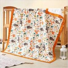 120*150cm Baby blankets newborn swaddle wrap six layers muslin cotton swaddle newborn swaddling baby bedding receiving blanket