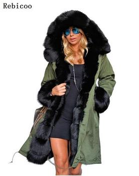 Brand New Style Big Wool Collar Winter Coat Women Clothes Warm Thick Loose Coats Casual Hooded Long Sleeve Jacket Coat Female 10