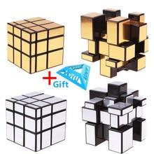 3x3x3 매직 미러 큐브 캐스트 코팅 퍼즐 전문 속도 매직 큐브 매직 교육 완구 어린이를위한