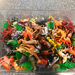 Image 4 - 58 יח\סט עולם חי גן חיות דגם איור פעולה צעצוע סט Cartoon סימולציה בעלי החיים יפה אוסף פלסטיק צעצוע לילדים