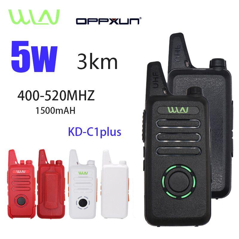 Лидер продаж, 2 шт., WLN KD-C1Plus Mini Walkie Talkie UHF 400 - 470 МГц, 16 каналов, двухсторонний любительский коммуникатор, HF Cb радиостанция, трансивер
