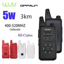 2 pces quentes wln KD-C1Plus mini walkie talkie uhf 400 - 470 mhz 16 canais transceptor da estação de rádio do hf cb do comunicador do presunto em dois sentidos