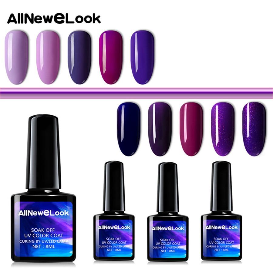 Allnewelook Azure Gel Polish UV LED Nail Builder Gel Uv Builder Gel 120 Colors Soak Off Nail Art Design Manicure