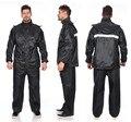 Мотоциклетный черный дождевик для взрослых, водонепроницаемая ветровка, подарок, дождевик, костюм, мужской уличный дождевик, комплект брюк