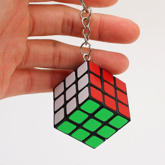cheapest 3x3x3 ZCUBE Mini 3rd order Keychain Magic Cubing Speed  Puzzle Educational Toy For Children Kids 2