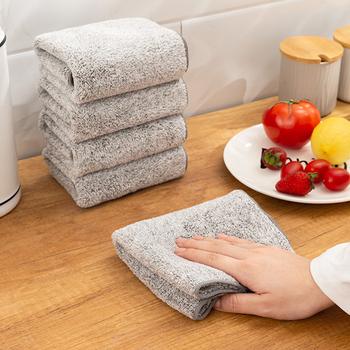 Kuchnia Anti-smar ścierki ściereczki do czyszczenia z mikrofibry zagęszczony bambusowy węgiel drzewny Super chłonny ręcznik 29*29cm tanie i dobre opinie DUSTPROOFVEIL CN (pochodzenie) Ekologiczne Na stanie NAKŁADKA DO MYCIA PODŁOGI HIGIENICZNE Mikrofibra Cleaning Cloths